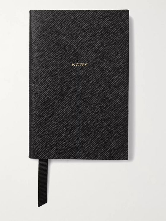 Smythson Printed Chelsea Cross-Grain Leather Notebook