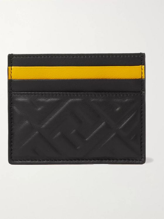 Fendi Logo-Embossed Leather Cardholder