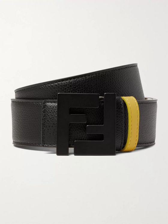 Fendi 3.5cm Full-Grain Leather Belt