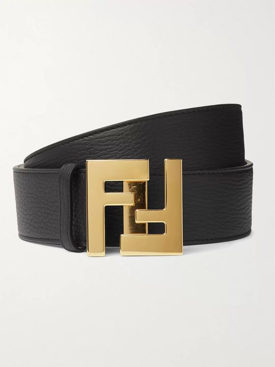 Fendi 4cm Full-Grain Leather Belt