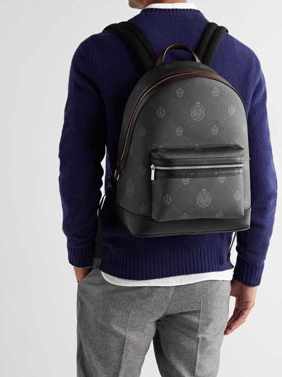 Berluti Explorer Logo-Print Leather Backpack