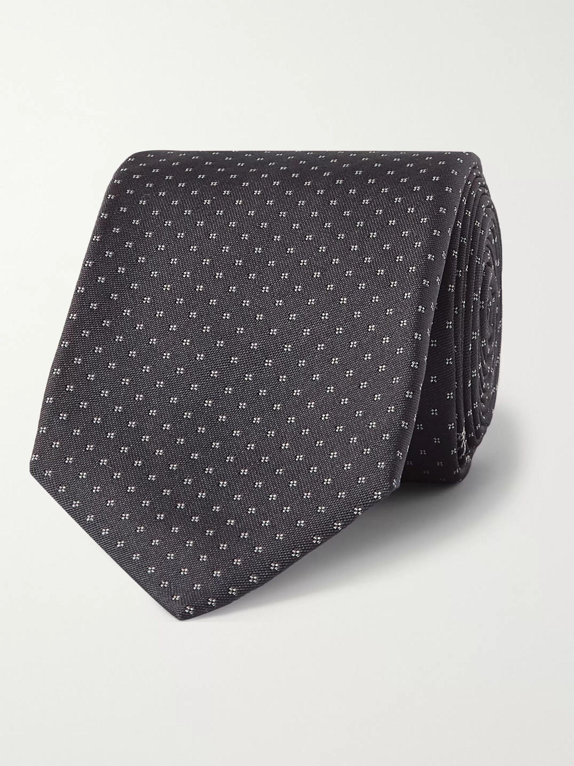 벨루티 넥타이 BERLUTI 6.5cm Mulberry Silk-Jacquard Tie,Navy