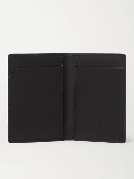 Berluti Printed Full-Grain and Burnished Leather Billfold Cardholder