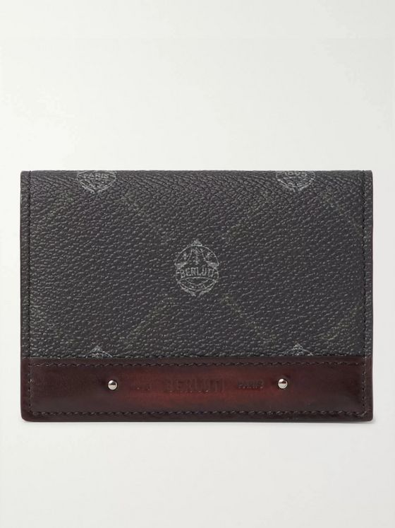Berluti Imbuia Printed Full-Grain and Burnished Leather Wallet