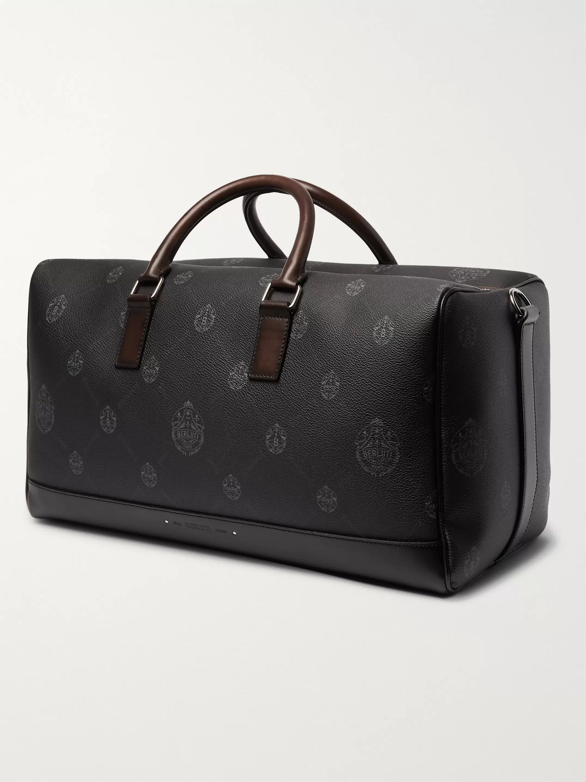 Berluti Venezia Leather-Trimmed Logo-Print Virée Canvas Holdall