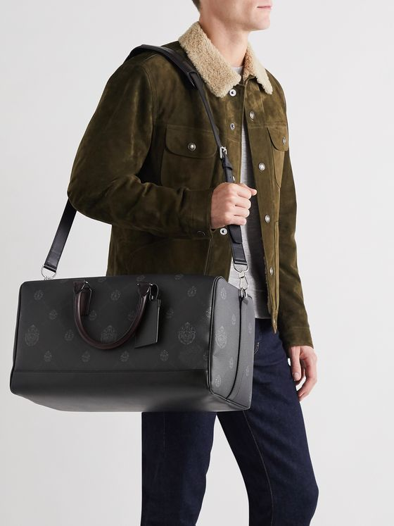 Berluti Aventure MM Venezia Leather-Trimmed Logo-Print Canvas Holdall