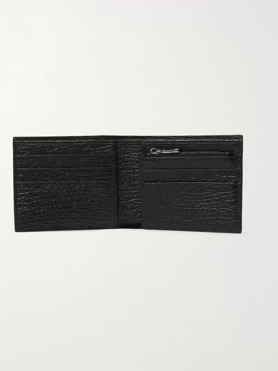 Dolce & Gabbana Logo-Appliquéd Textured-Leather Billfold Wallet