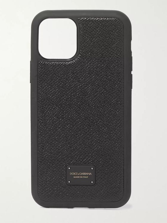 Dolce & Gabbana Pebble-Grain Leather iPhone 11 Pro Case