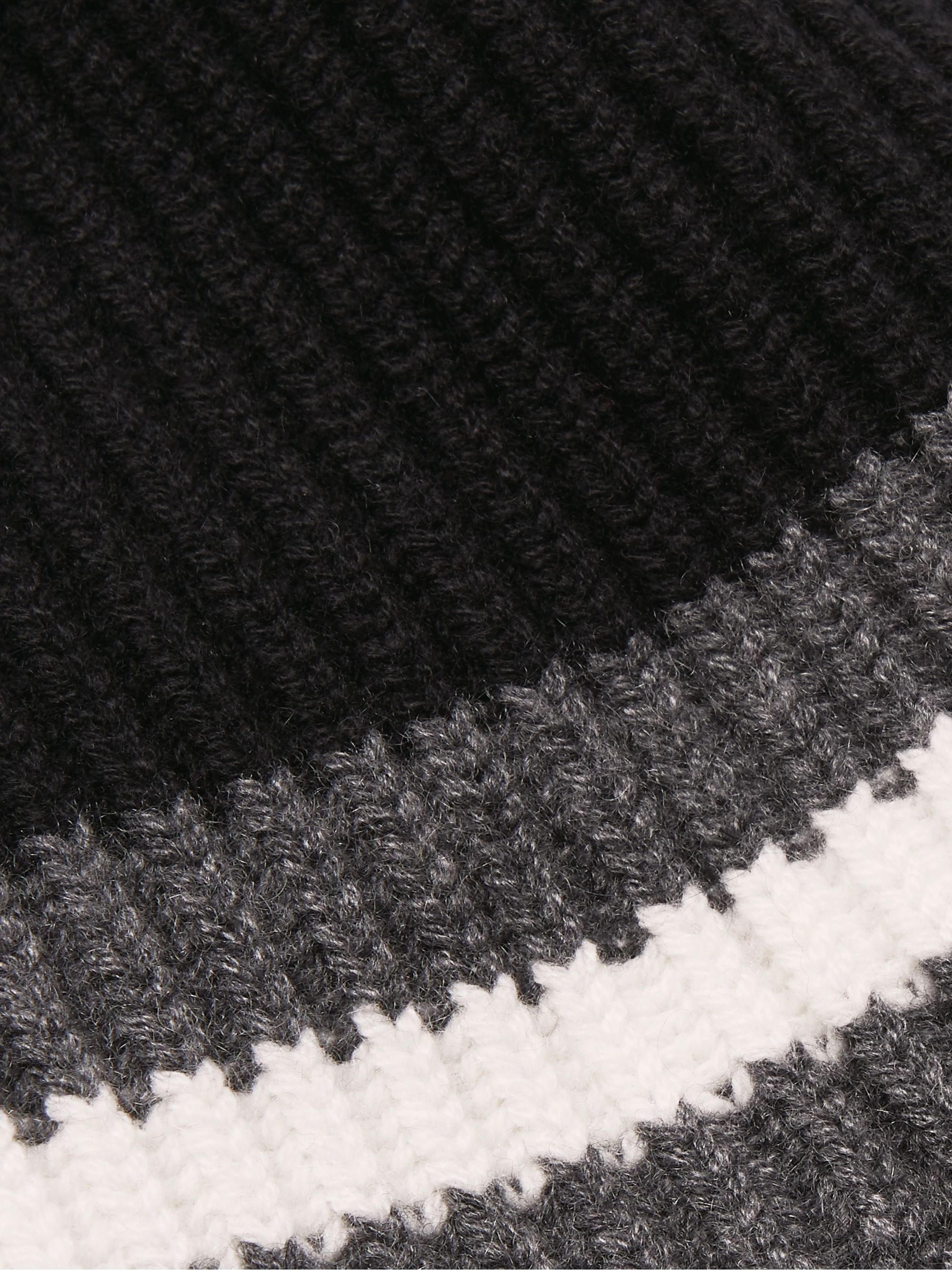 Dolce & Gabbana Ribbed Striped Cashmere Beanie