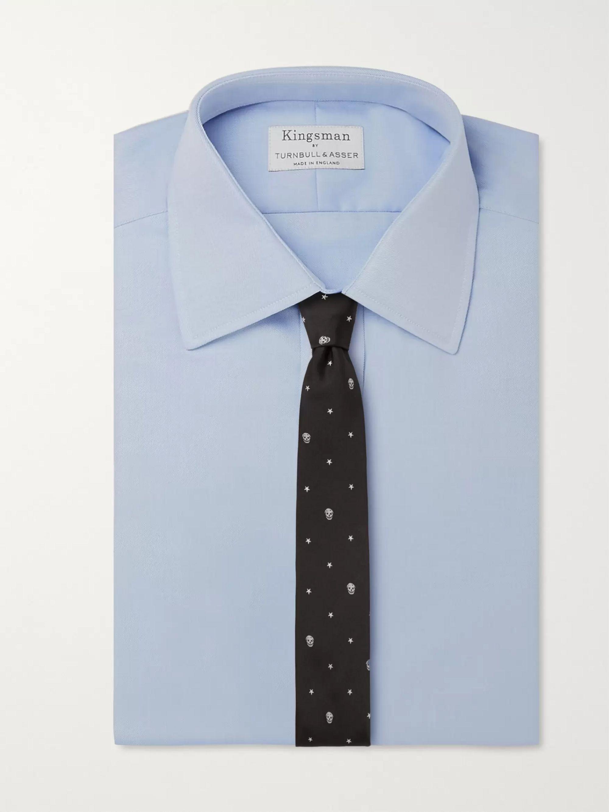 Black 7cm Silk-jacquard Tie | Alexander Mcqueen