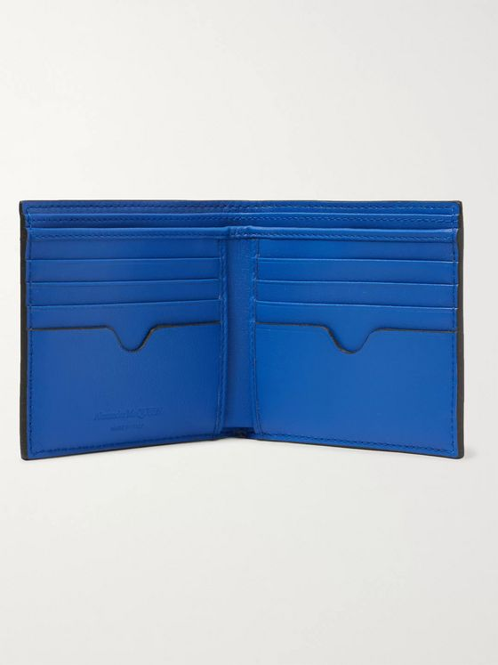 Alexander McQueen Croc-Effect Leather Billfold Wallet