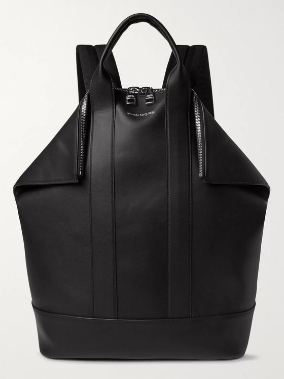 Alexander McQueen De Manta Leather Convertible Tote Bag