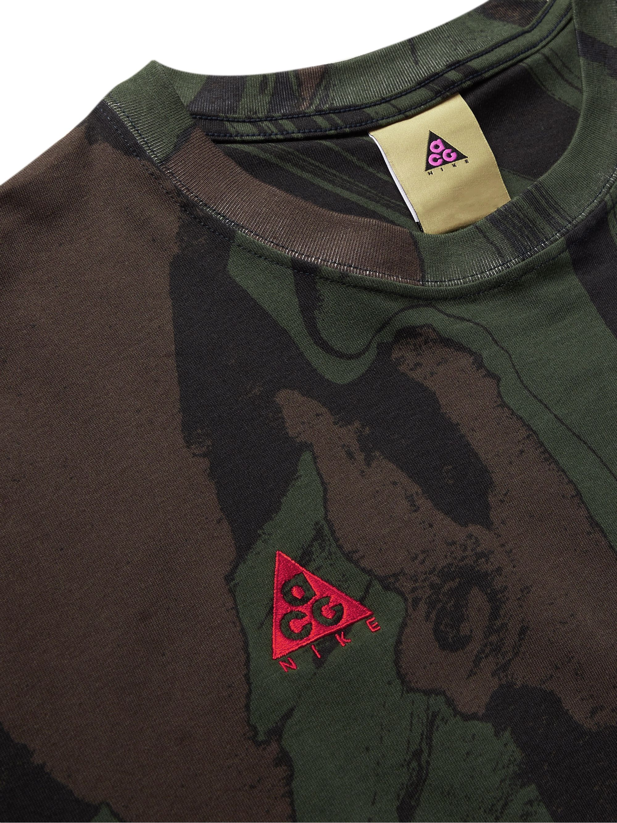Nike ACG Mt Fuji Logo-Detailed Printed Cotton-Jersey T-Shirt