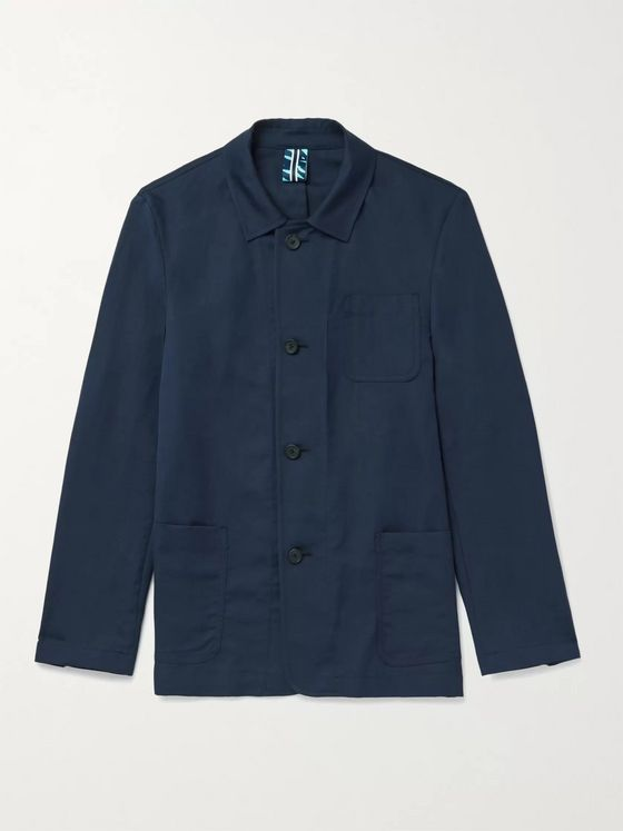 Hugo Boss Norvil Slim-Fit Cotton and Linen-Blend Field Jacket