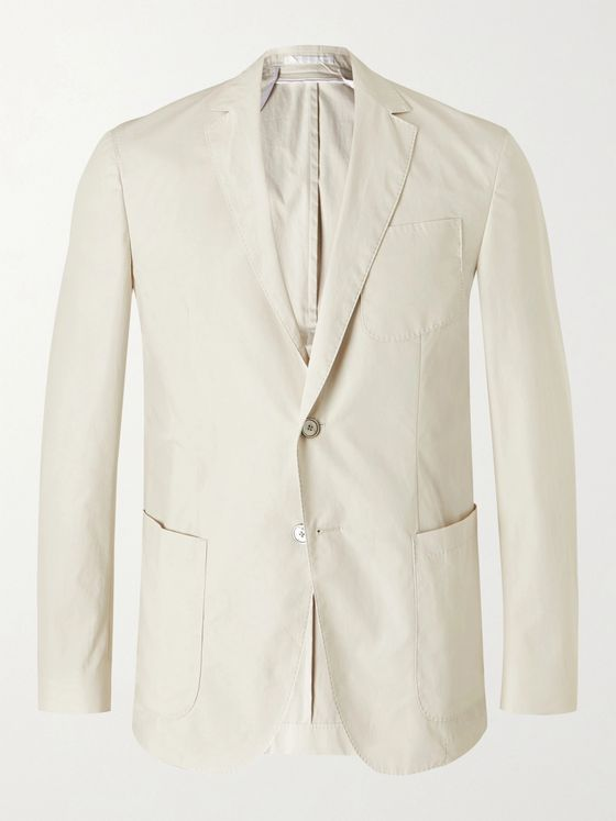 Hugo Boss Nolvay Slim-Fit Cotton Suit Jacket