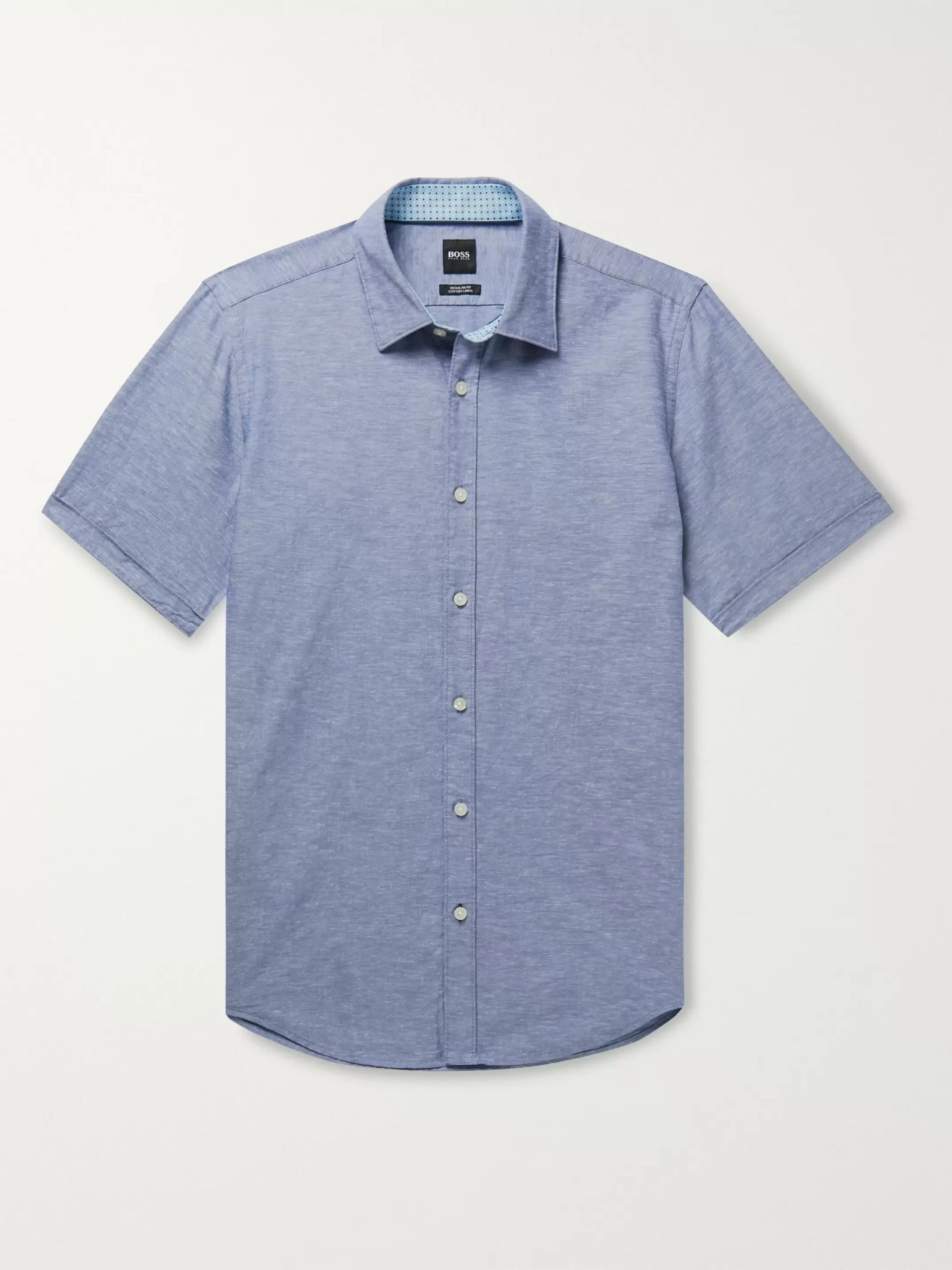 Hugo Boss Luka Cotton and Linen-Blend Shirt