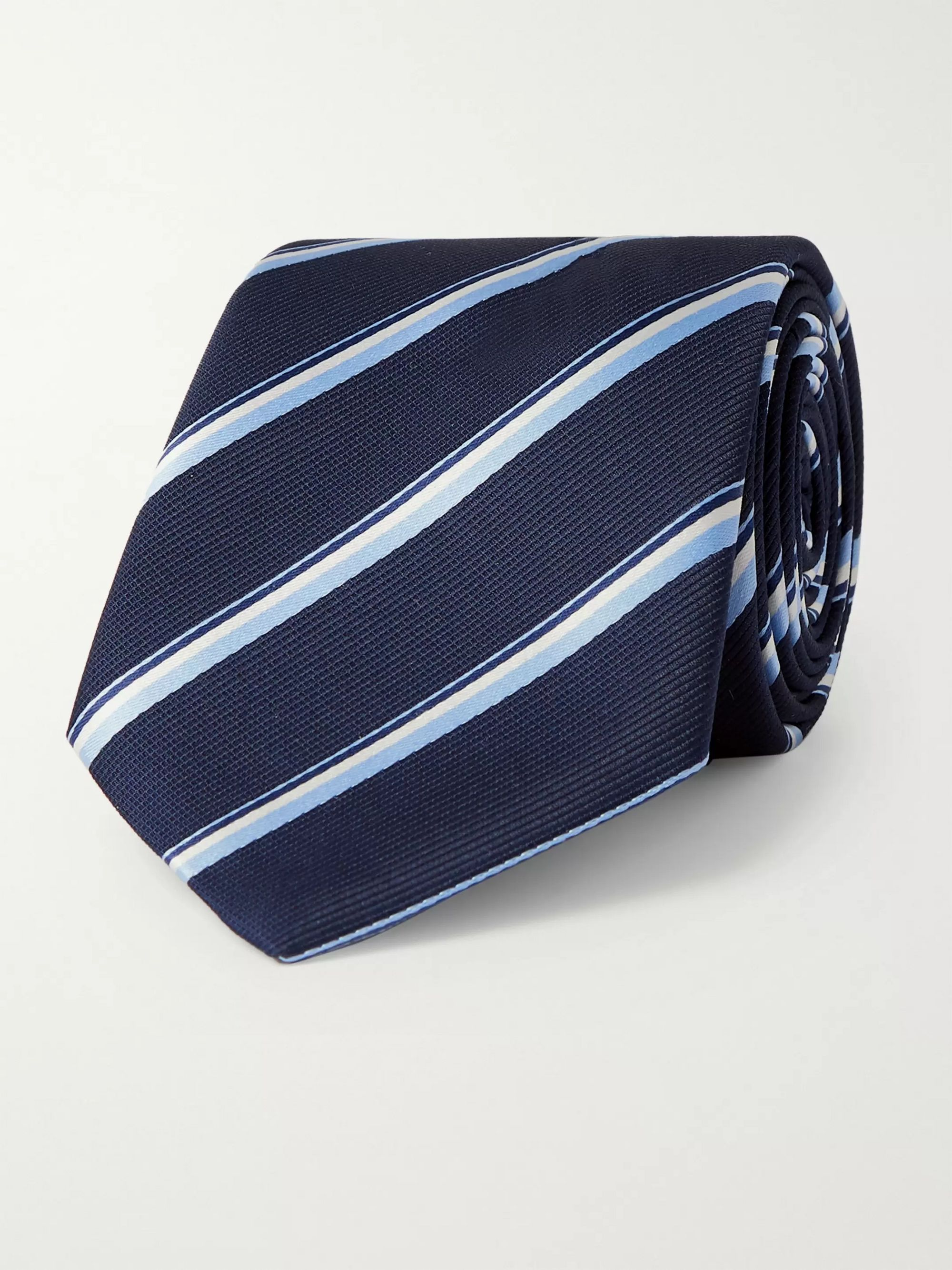 Hugo Boss 7.5cm Striped Silk-Jacquard Tie