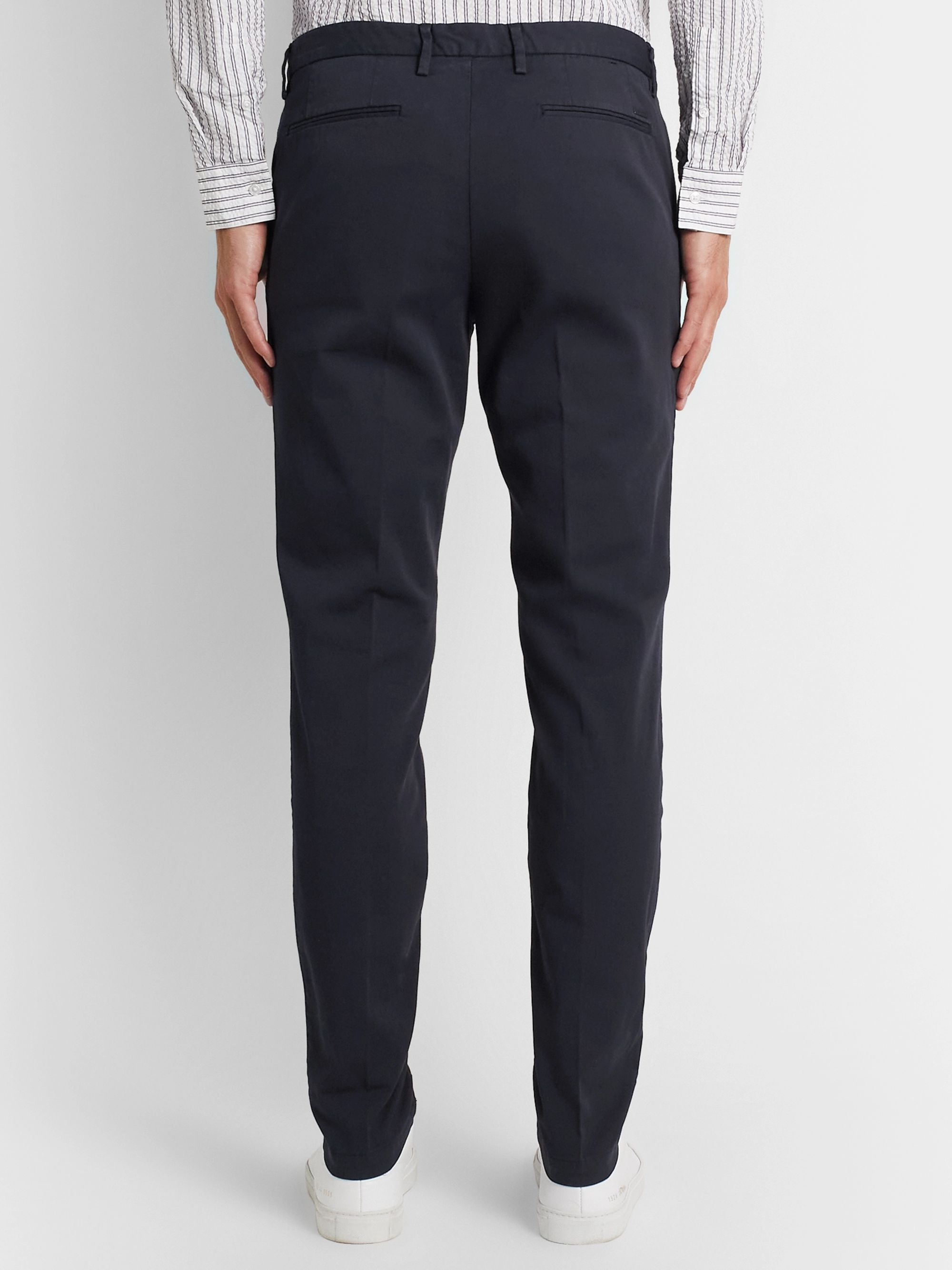Hugo Boss Katio Slim-Fit Tapered Cotton-Blend Twill Chinos