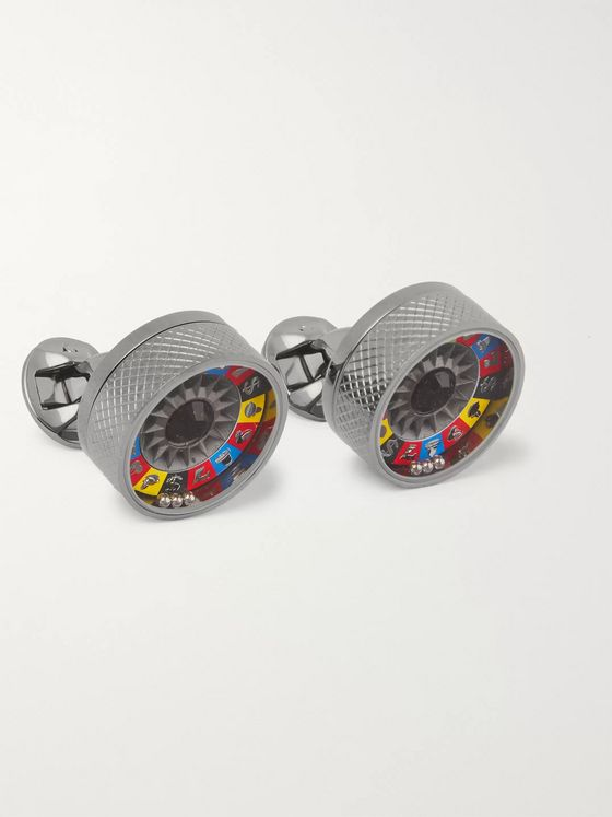 TATEOSSIAN Fruit Machine Stainless Steel Cufflinks