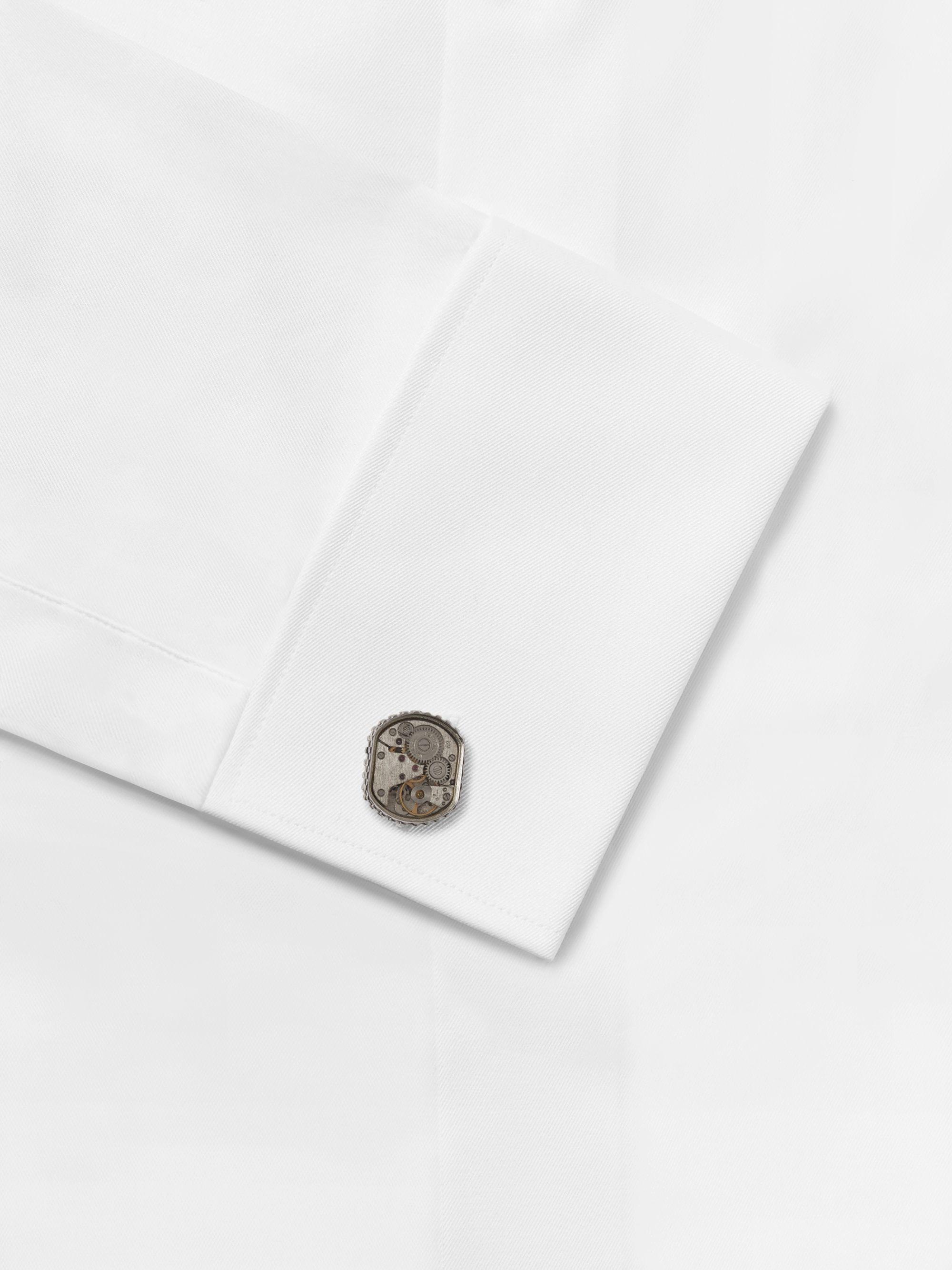Silver Gear Silver-tone Cufflinks | Tateossian