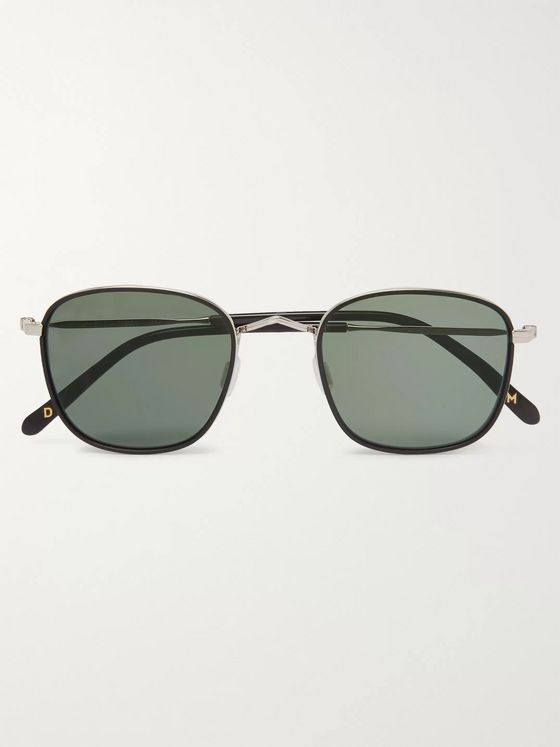 Dick Moby Geneve Square-Frame Silver-Tone Sunglasses