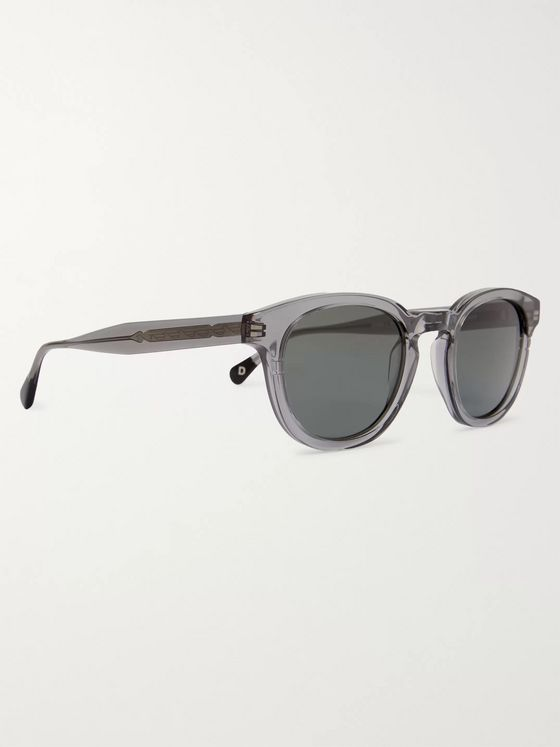 Dick Moby Genoa Round-Frame Acetate Sunglasses
