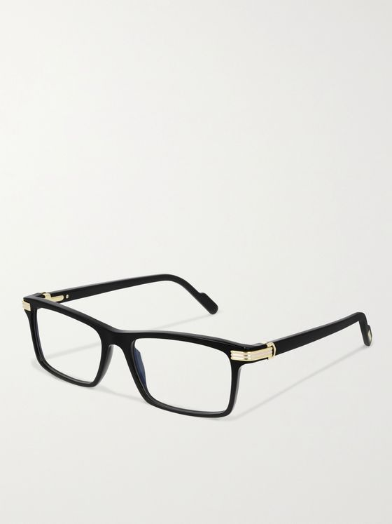CARTIER EYEWEAR Rectangular-Frame Acetate Optical Glasses