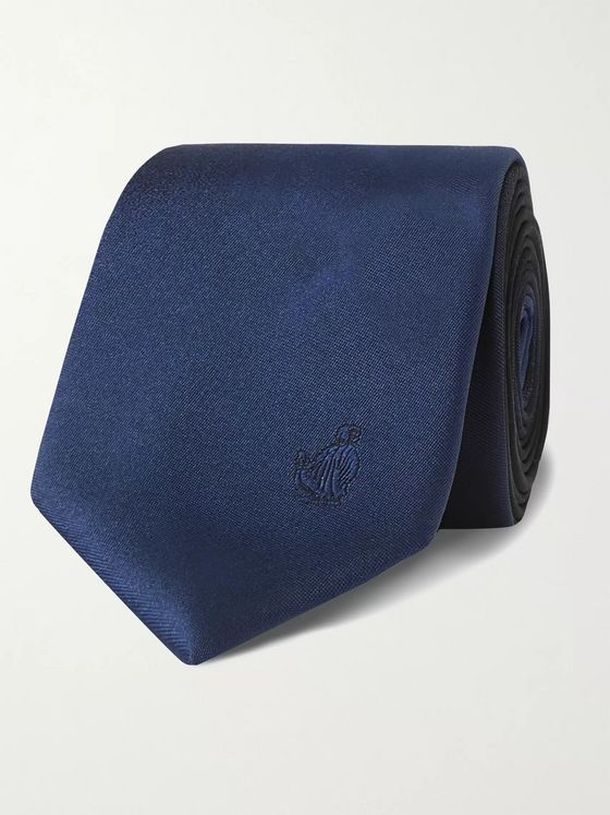 Lanvin 6cm Logo-Embroidered Silk-Satin Tie