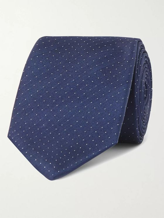 Lanvin 6cm Pin-Dot Silk-Satin Tie