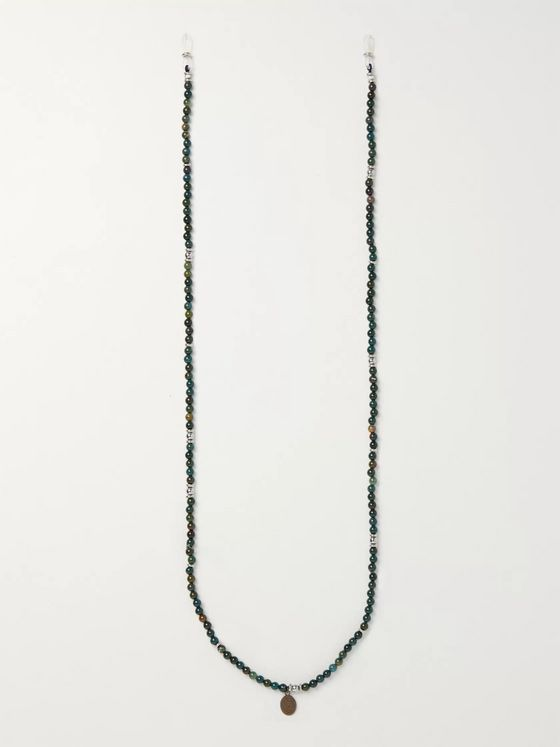 Mikia Multi-Stone, Rubber and Silk Sunglasses Chain