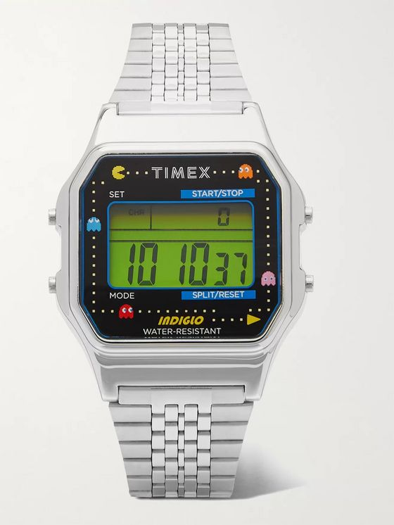 Timex + Pac-Man T80 34mm Stainless Steel Digital Watch