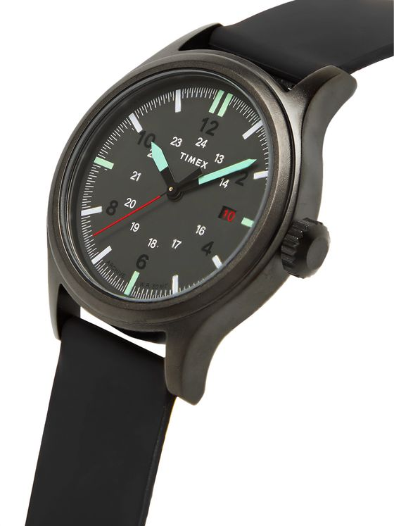 TIMEX Allied 40mm Gunmetal-Tone and Silicone Watch