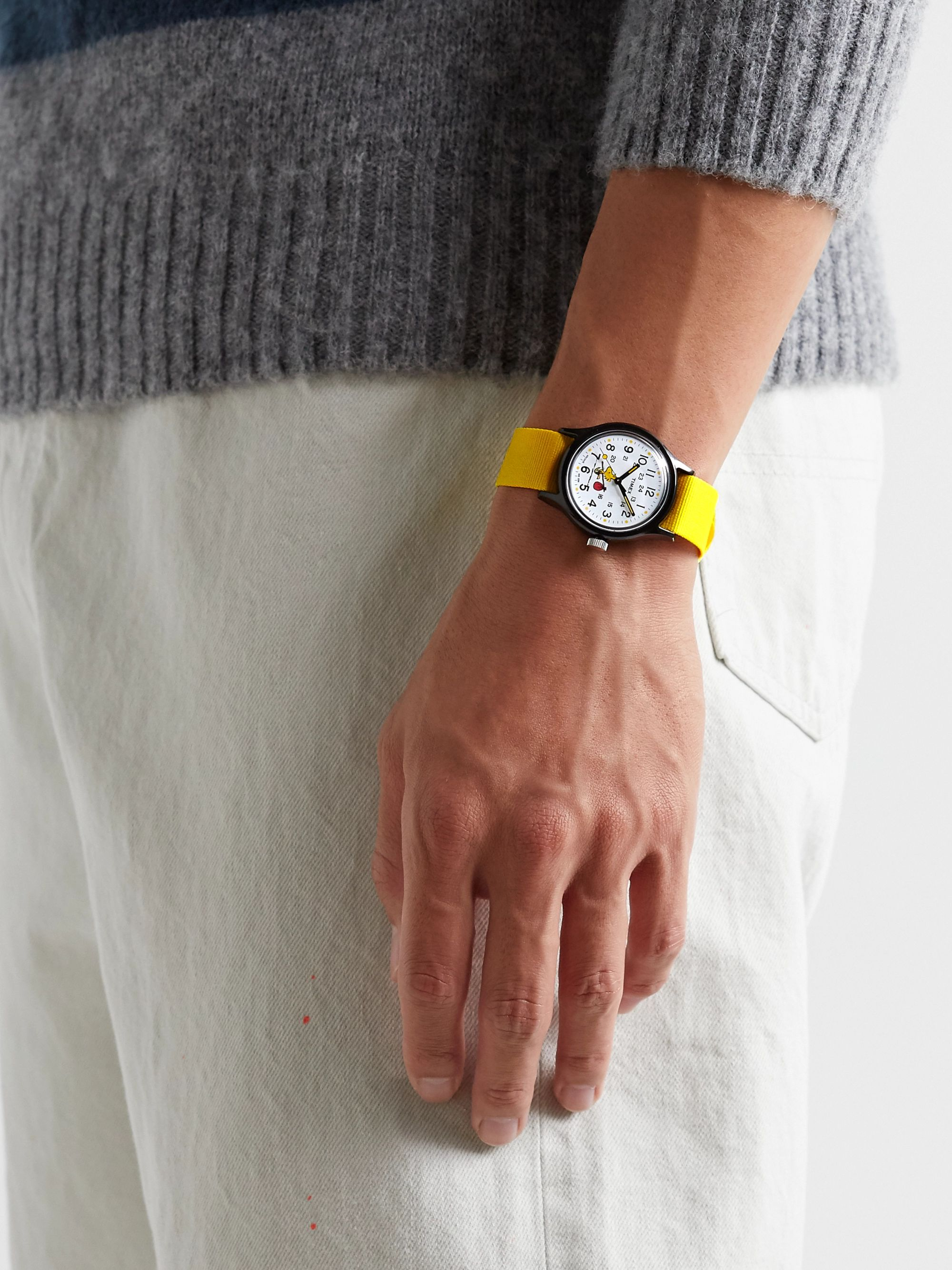 Yellow + Peanuts Mk1 36mm Resin And Nato Watch | Timex