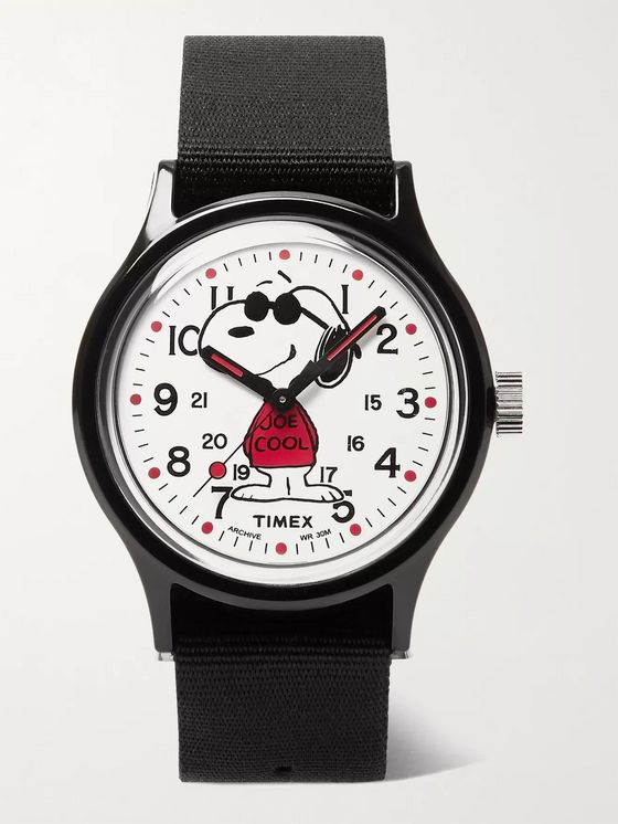 Timex + Peanuts MK1 36mm Resin and NATO Watch
