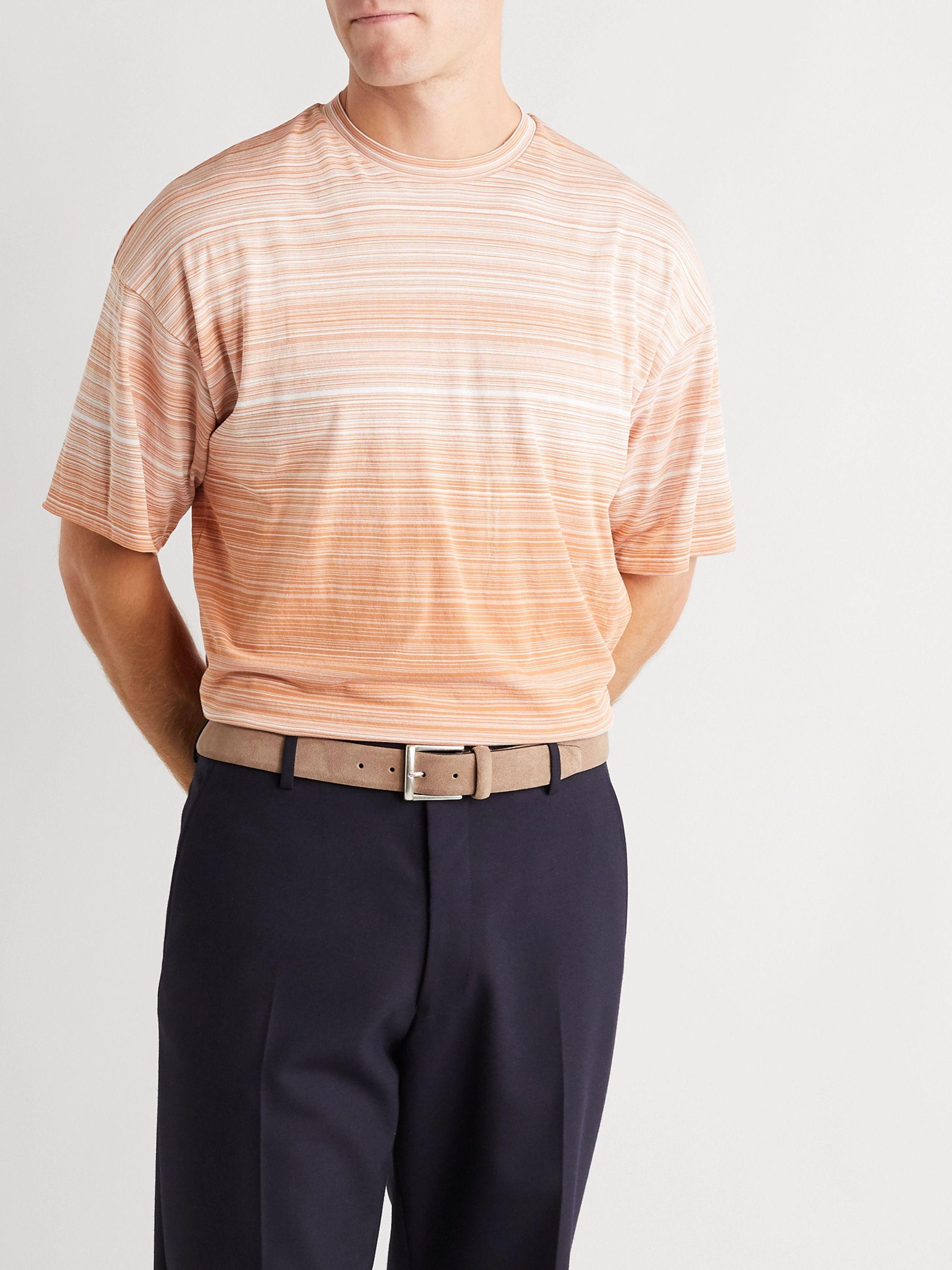 Beige 3.5cm Suede Belt | Anderson's