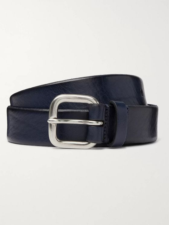 Anderson's 3.5cm Textured-Leather Belt