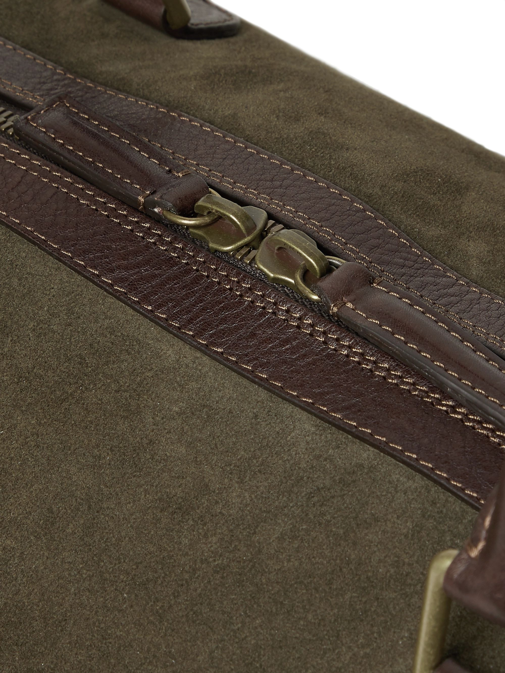 Anderson's Leather-Trimmed Suede Duffle Bag