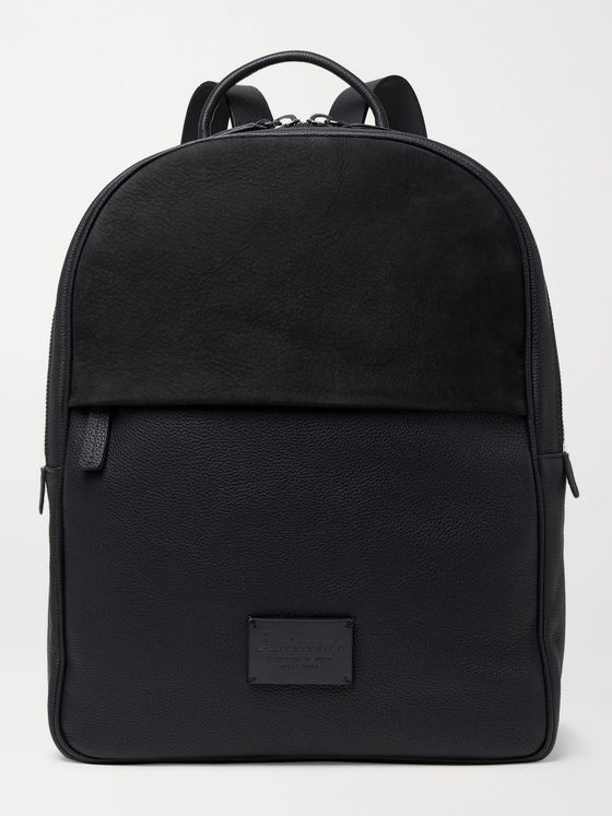 Anderson's Full-Grain Leather and Suede Backpack