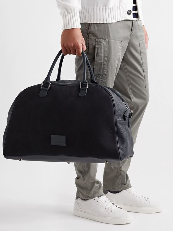 Anderson's Full-Grain Leather and Nubuck Holdall