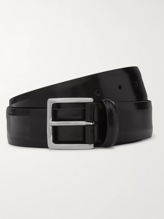 Anderson's 3.5cm Polished-Leather Belt