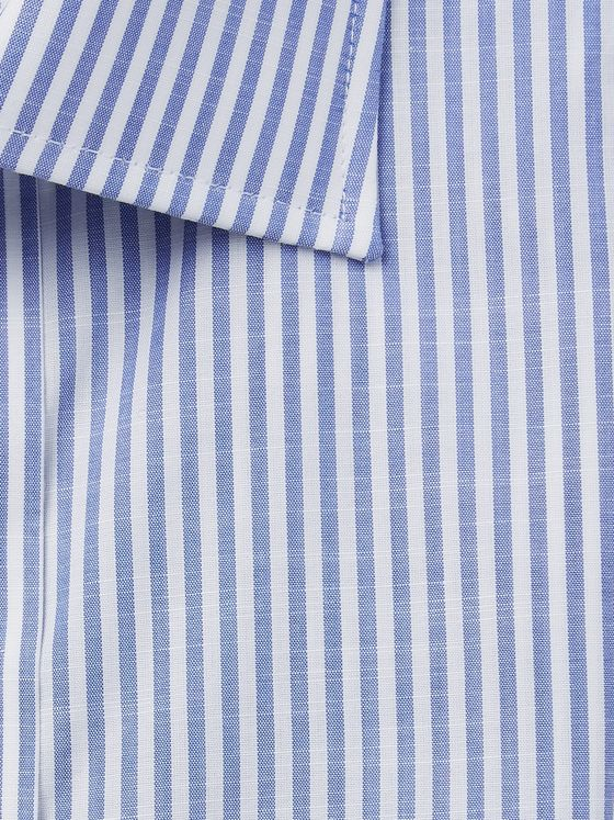 Emma Willis Slim-Fit Striped Cotton-Poplin Shirt