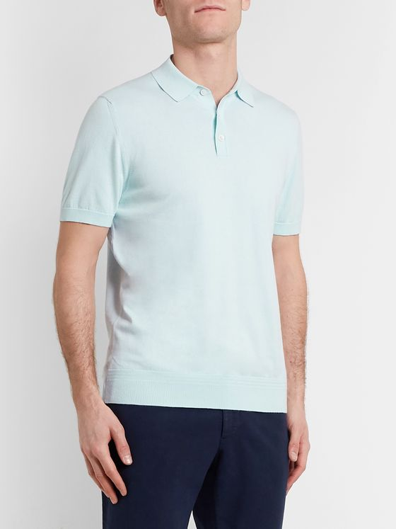 Richard James Slim-Fit Cotton Polo Shirt