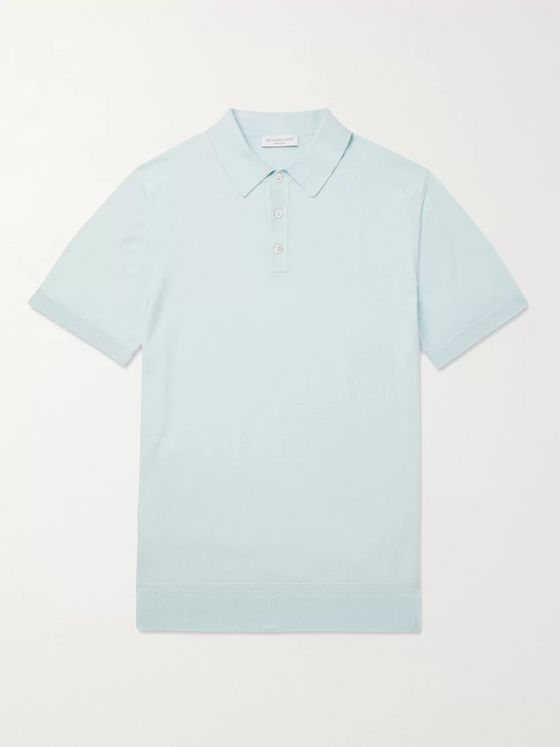 Richard James Slim-Fit Mélange Cotton Polo Shirt