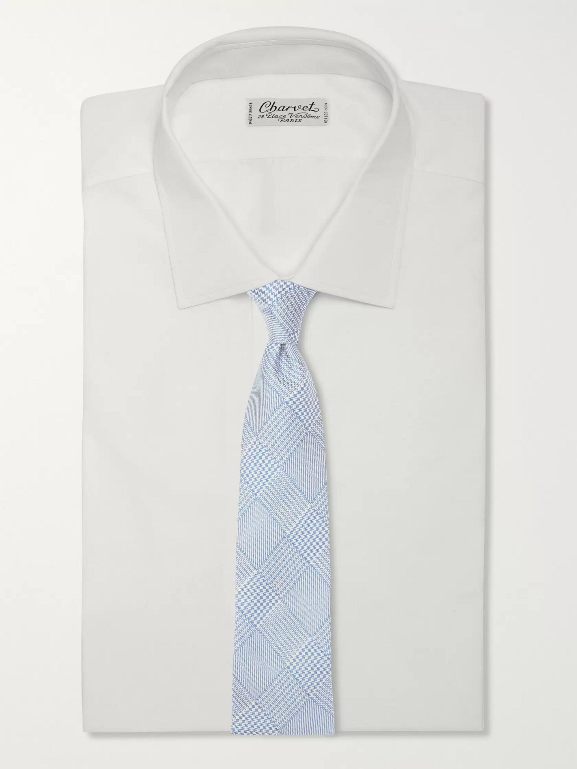 Emma Willis 8.5cm Prince of Wales Checked Silk-Jacquard Tie