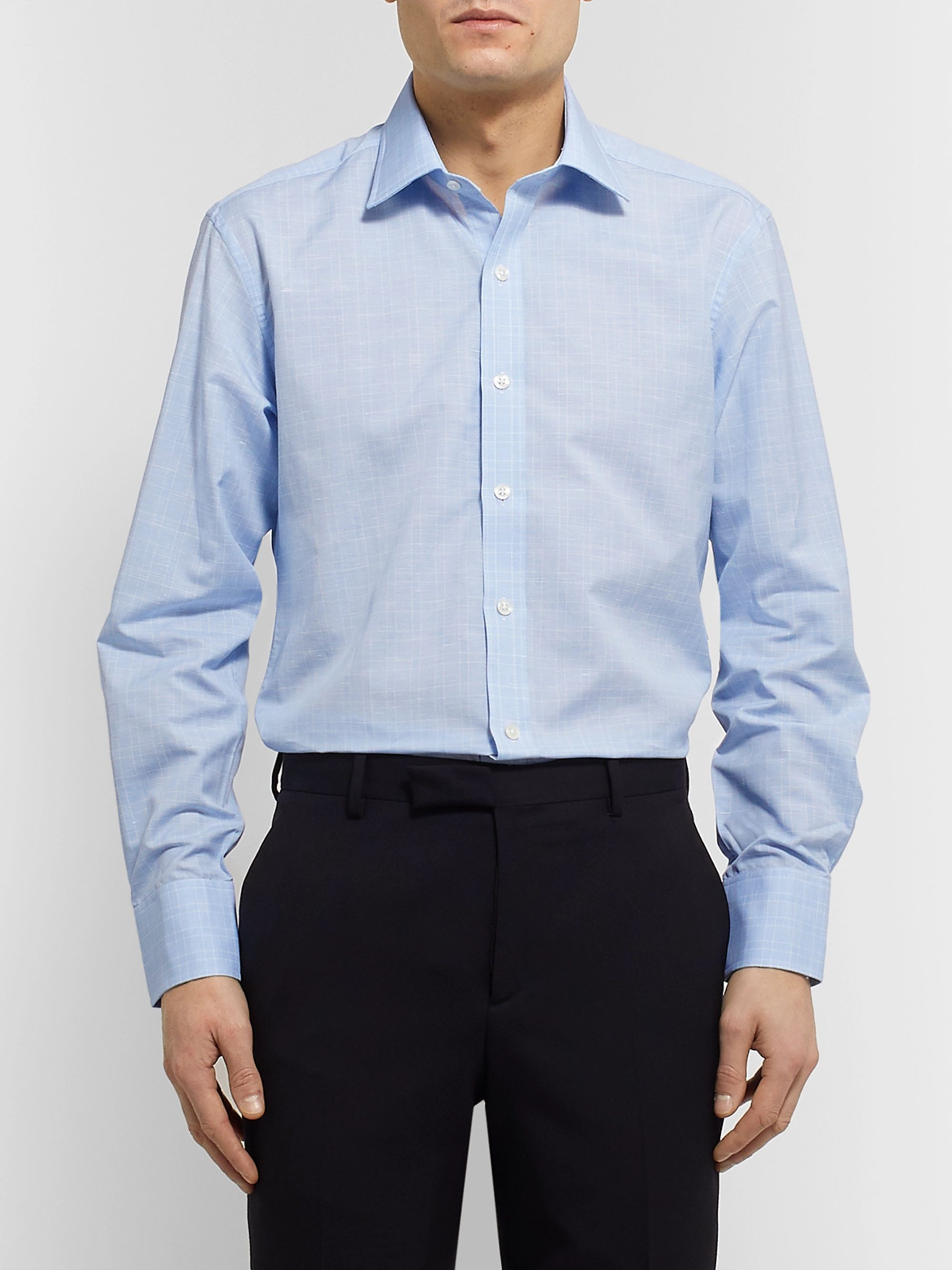 Emma Willis Prince of Wales Checked Cotton Shirt