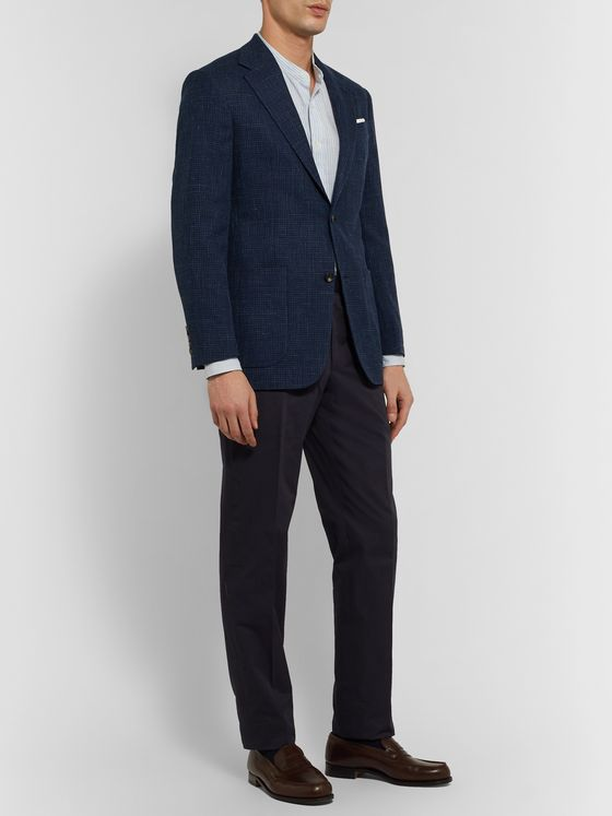 Richard James Checked Wool, Silk and Linen-Blend Blazer