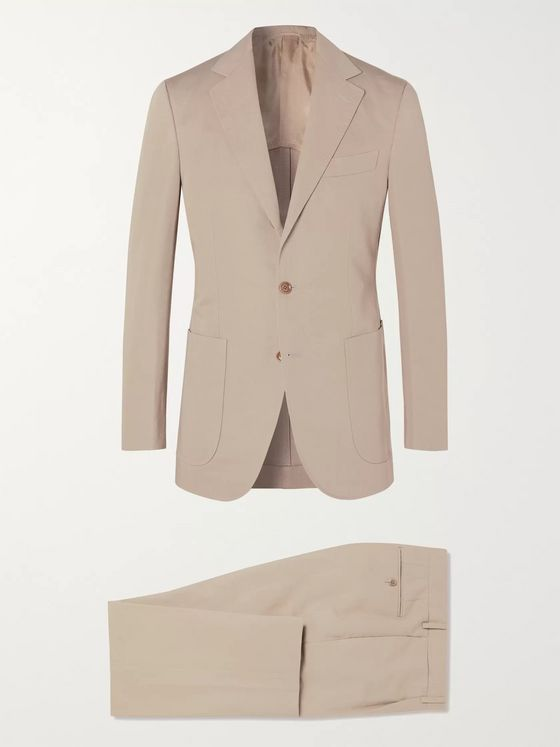 Beams F Slim-Fit Cotton and Linen-Blend Suit Jacket