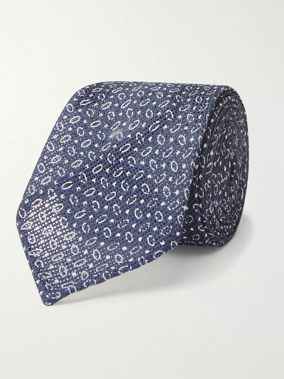 Thom Sweeney 7cm Cotton-Jacquard Tie