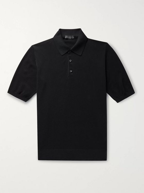 Thom Sweeney Slim-Fit Cotton-Piqué Polo Shirt