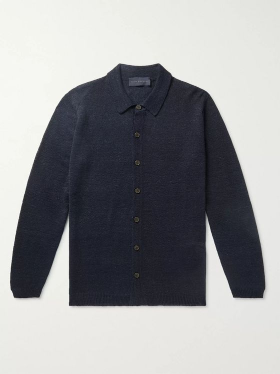 THOM SWEENEY Linen and Silk-Blend Shirt